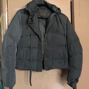 Tahari jacket xs winter green/ khaki